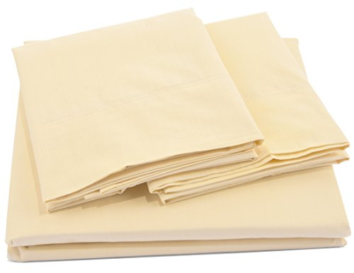 Pacific Linens Bed Sheet Set Deep Pocket Comfort | Poly Cotton Blend | Hypoallergenic, Wrinkle, Fade & Stain Resistant | 300 Thread Count | 3 Piece | Twin Size | (Pacific Bed Set)