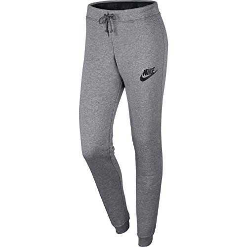 Nike Womens Rally Tight Sweatpants Carbon Heather Grey/Black 826664-091 Size X-Large
