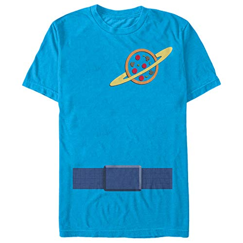 Toy Story Men's Pizza Planet Costume Tee Turquoise T-Shirt -