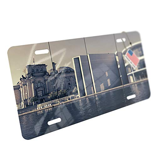 NEONBLOND Reichstag, Berlin Aluminum License Plate