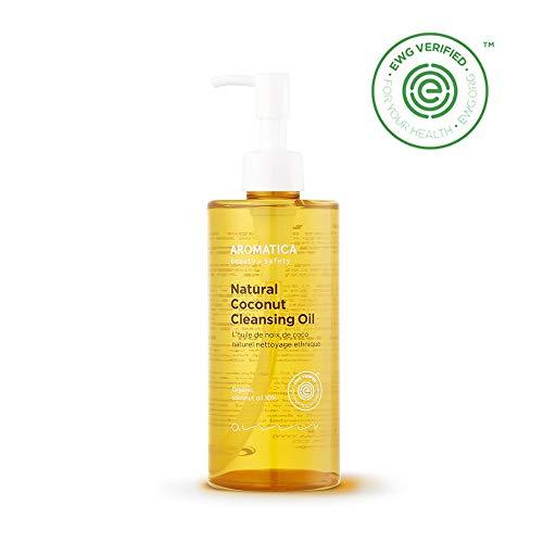 AROMATICA Natural Coconut Cleansing Oil 10.14oz / 300ml, Vegan, EWG VERIFIED