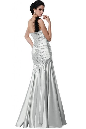 tracolla lungo Silver Sunvary sirena sera stile con perline da abito One raso E6a0qw6F