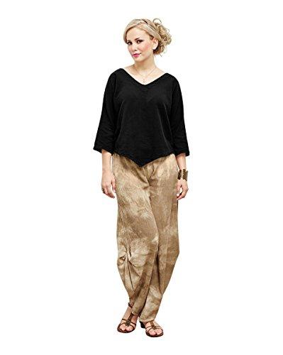 Oh My Gauze Women's Lynn Blouse S/M (6-10) Black (Fashion Cotton Gauze)
