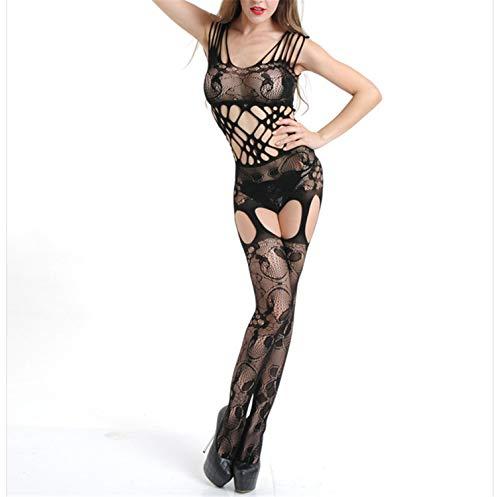 Sexy Body Stockings Sex Costumes Women Black Jacquard Mesh Bodystocking Hot Erotic Porn Sexy Lingerie Baby Dolls Bodysuit