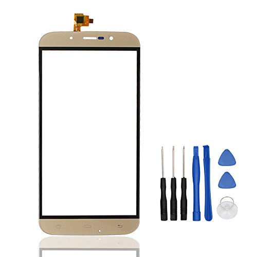 HYYT Phone Repair Part Replacement Front Glass Touch Screen Touch Panel Tp for UMI Rome/Rome X (Golden)