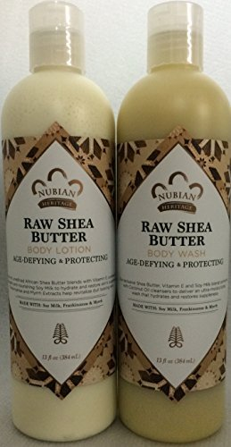 Raw Shea Butter Lotion & Body Wash Set.. by Nubian 13oz each