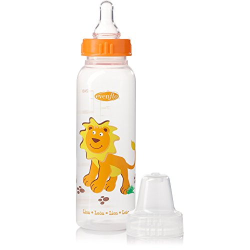 Evenflo Polypropylene Bottles for Infant Newborn - Blue/Green/Orange, Ounce