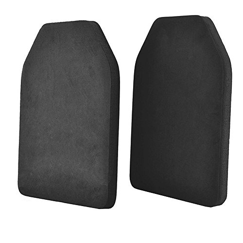 2pcs Lightweight Airsoft Ballistic SAPI Plate Carrier EVA Body Vest Dummy Armor Bulletproof Model Plates, Black (Foam Backpack)