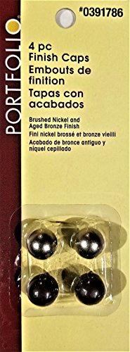 Finish Caps, Brushed Nickel/Bronze Lamp Finial, 4 Pack