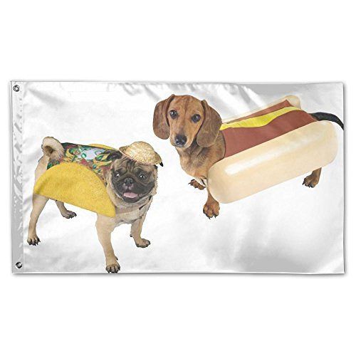 Xyou Hotdog Taco Dog Today Flag 3x5 Ft Single-Sided Printed