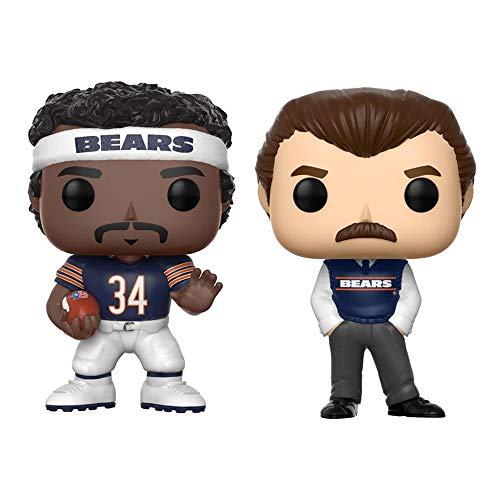 Toynk Chicago Bears NFL POP Vinyl Figure Set of 2: Walter Payton and Coach Mike Ditka