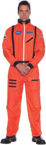 [Orange Astronaut Suit Plus Size Costume] (Astronauts Costumes)