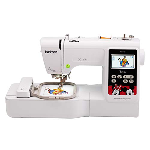 "Brother PE550D Embroidery machine, 125 Built-in Designs including 45 Disney Designs, 9 Font Styles, 4"" x 4"" Embroid"