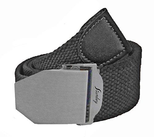 Belt Canvas Web W Free Drawstring Gift Bag, Adjust to 40 In, Black