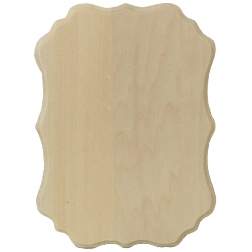 Walnut Hollow 399-29 Basswood Thin Plaque 5 by 7-Inch, Vintage