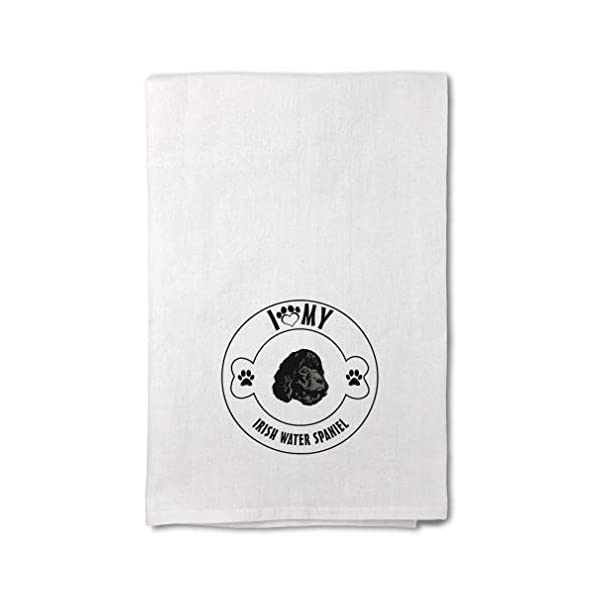 Style In Print Custom Decor Flour Kitchen Towels I Love Paw My Irish Water Spaniel Dog Pets Dogs Cleaning Supplies Dish Towels Design Only 1