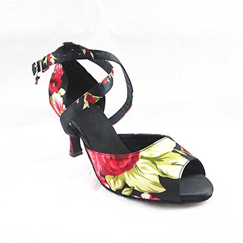 alla Samba Moderno Cinturino Ballo Ballo BYLE Ballo Onecolor da Jazz da Scarpe Cinturino Scarpe di Caviglia Latino Latino Scarpe Adulti da Estate Scarpe per Sandali Cuoio RqpwpYxI8
