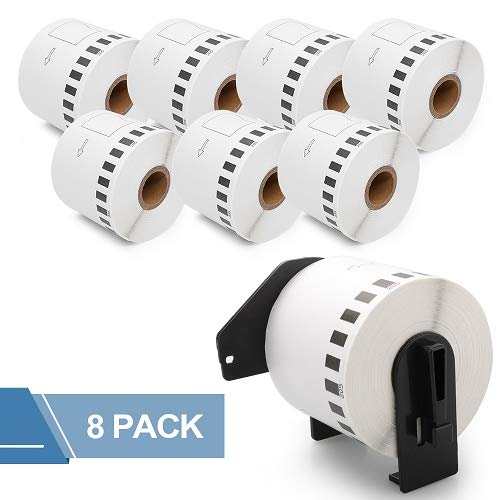 Fimax 8X Compatible Brother DK-2205 Address Labels Roll, Standard White Paper Address Labels, 2.4