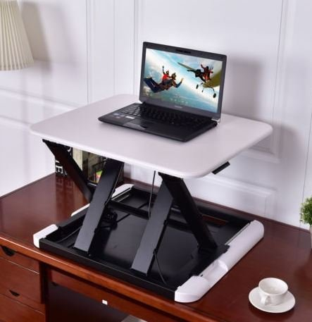 K&A Company Table Slim 8 Adjustable Folding Desk Tray Stand Bed Standing Laptop Pc Notebook Lap Sturdy New Home White