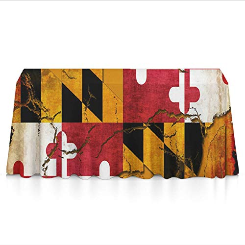Paper Maryland Holder Clip (KYWYN Premium Table Cloth - Vintage Wooden Maryland Flag - Table Overlay/Cover Tapestries for Brunches,Dinners,Buffet Table,Birthday,Picnic,X-mas,Holiday, Year Decoration(60