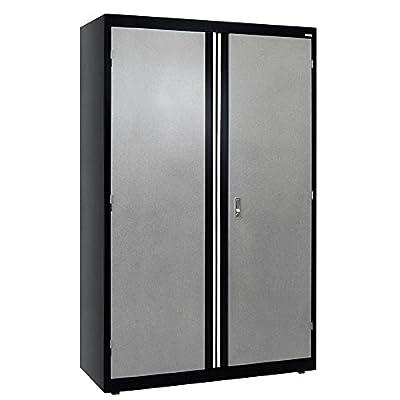 "Sandusky Lee GACF462472-M9 Welded Steel Combo Cabinet, 3 Adjustable Side Shelves, 1 Fixed Top Shelf, 200 lb. Per Shelf Capacity, 72"" Height x 46"" Width x 24"" Depth"