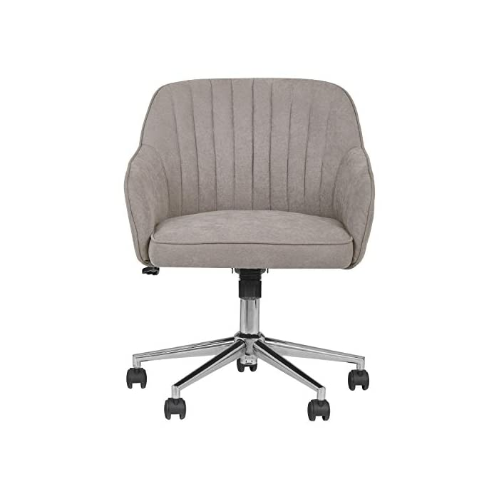 Rivet Modern Upholstered Swivel Office Chair