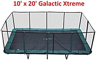 Happy Trampoline - Galactic Xtreme Gymnastic Rectangle Trampoline with Safety Net Enclosure - Heavy Duty Commercial...
