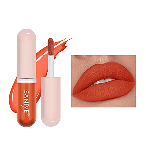 12Colors Lipstick, New Matte Nourishing Lipstick Velvet Long Lasting Waterproof Lip Gloss 3g, Pigmented Lip Makeup Gift for Girls and Women(B)
