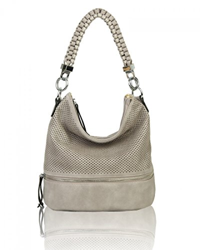 Shoulder 16 Bags W Style Grey Her For D Cm Cw150906 Fashion Women's Tote 5 Leahward X Handbags Neutral 24 H Bag Soft 26 xg61tIW