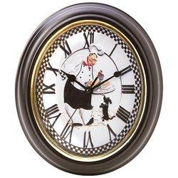 Brookwood Oval-Shaped Baker Wall Clock