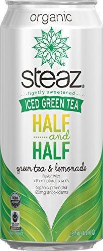 8 Pack - Steaz Iced Green Tea -Half and Half - Green Tea and Lemonade 16oz. … by Steaz