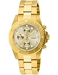 Mens 1774 Pro-Diver Collection 18k Gold Ion-Plated Stainless Steel Watch