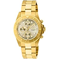 Men's 1774 Pro-Diver Collection 18k Gold Ion-Plated Stainless Steel Watch