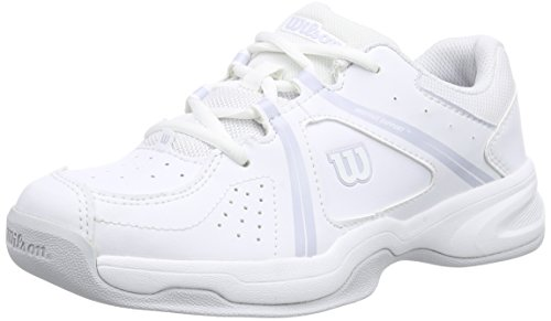 Wilson ENVY CARPET JUNIOR, Unisex-Kinder Hallenschuhe, Mehrfarbig (White/White/Pearl Gray), 39 EU (5.5 Kinder UK)
