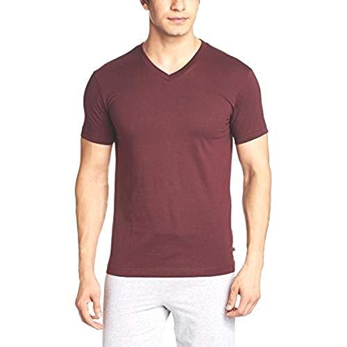 Jockey 2726 V Neck Maroon Men Half Sleeve T Shirt