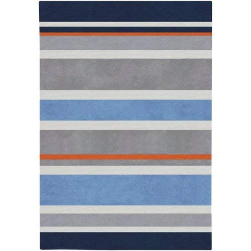 Chic Hand Tufted Rug - Surya Chic CHI-1040 Contemporary Hand Tufted 100% Poly-Acrylic Dark Periwinkle 3' x 5' For Kids Area Rug