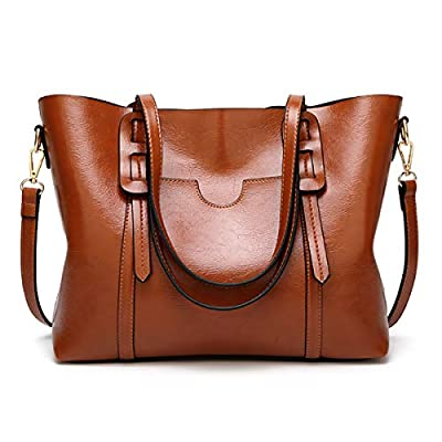 QIN LX Lady Leather Shopping Messenger Purse Top Handle Handbags And Women's Shoulder Tote Satchel Bag