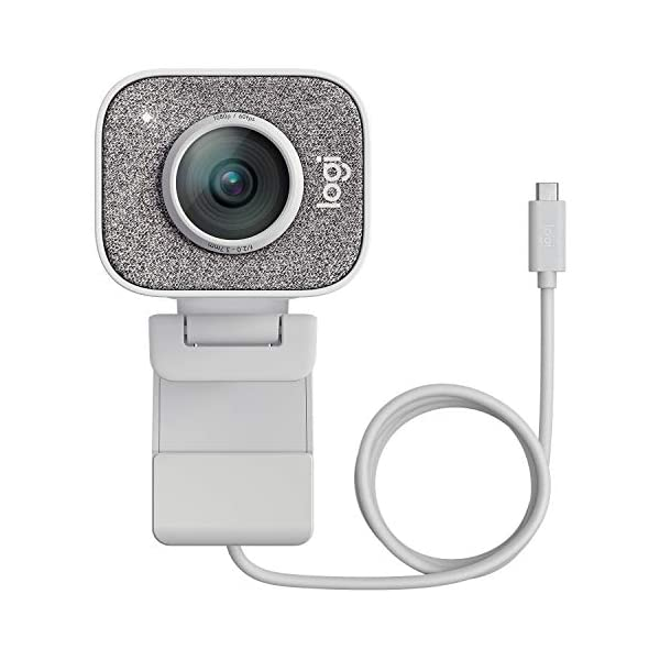 Logitech StreamCam 1080P HD 60fps Streaming Webcam with USB C and Built in Microphone White