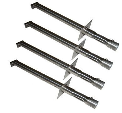 Replacement Gas Grill 4 Pack Stainless Steel Burner for Jenn Air, Vermont Castings Model Grills. Measures 17