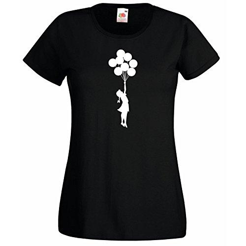 Banksy The T Volant Chemise Loom shirt Adolescente Premium Super Fille Décalque Cadeau Ballons Balloon Gratuit Femmes Of Avec Noir Superbe Escapism Fruit zwIIqTrt