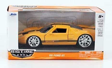 Jada   Bigtime Muscle  Ford Gt Sport Coupe  Scale Yellow