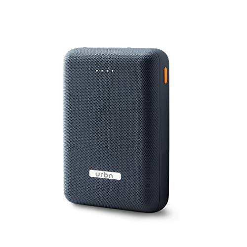 URBN 10000 mAh Li-Polymer Ultra Compact Power Bank with 2.4 Amp 5V Fast Charge (Blue)
