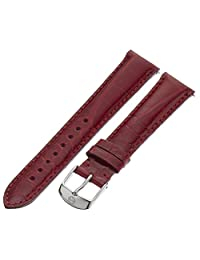 MICHELE MS18AA010611 18mm Leather Alligator Red Watch Strap