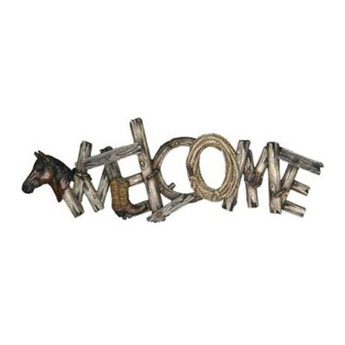Rivers Edge Products Western Themed Welcome Sign (Western Edge)