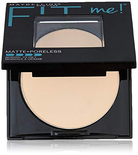 Maybelline New York Fit Me Matte + Poreless Pressed Face Powder Makeup, Fair Ivory, 0.28 Ounce ()