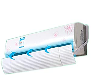 ZHOUWHJJ Foldable Air Conditioner Deflector Confinement Air Deflector Outlet Air Wing Air Cooled Anti Blast Baffle Wind Direction Telescopic Windshield for Home