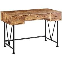 Coaster Home Furnishings  Analiese Modern Rustic Industrial Three Drawer Writing Desk - Antique Nutmeg