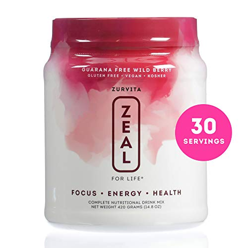 (Zurvita- Zeal for Life- 30-Day Wellness Canister- Wild Berry (Guarana Free)- 420 grams)