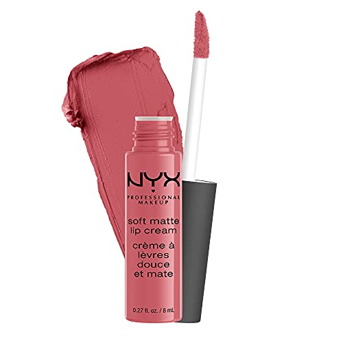 NYX PROFESSIONAL MAKEUP Soft Matte Lip Cream, Lightweight Liquid Lipstick – Cannes (Matte Muted Mauve)