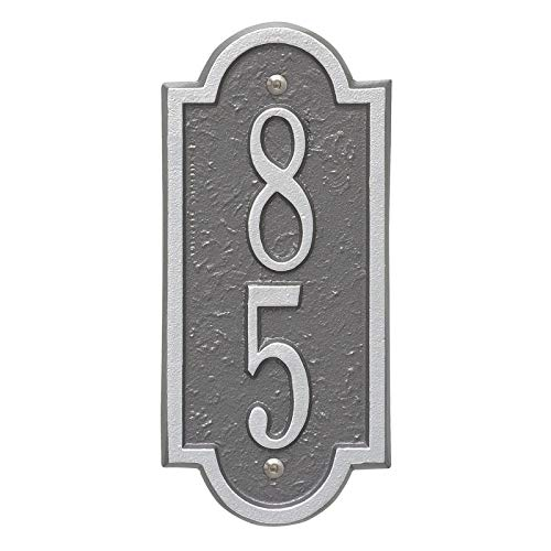 (Personalized Richmond Vertical Mini Wall Plaque (Pewter/Silver))